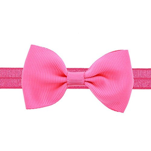 Price comparison product image Rosiest Baby Toddler Mini Bowknot Hairband Elastic Kids Headband (Hot Pink)