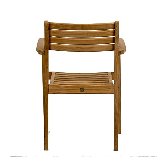 Amazonia Teak Coventry 2-Piece Teak Stacking Chairs - Amazonia Teak Collection 2 stacking armchairs 20w x 22d x 31h seating: 16Dx18Wx16H High Quality Teak Wood (Tectona Grandis) - patio-furniture, patio-chairs, patio - 41O9odaVrJL. SS570  -