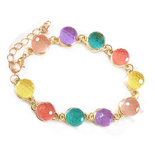 - Xeminor Stockton Transparent Color Candies Crystal Ball Bracelets Bracelets Women Jewelry Accessories
