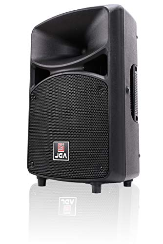 Dj Speaker - Active PA Speaker System Compact and Portable DJ Speakers 8 Inch Woofer with Bluetooth MP3/SD/FM/Remote Control/Wired Microphone-JGA ELECTRONICS