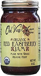 product image for ORGANIC RED RASPBERRY JAM - 100% All Natural Fruit Preserve Spread USDA & PCO Certified Amish Handmade USA
