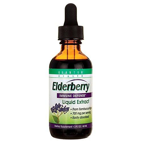 Organic Elderberry Extract (Quantum Health Elderberry Liquid Extract from Sambucus Nigra, Immune Defense, Dietary Supplement to Boost Immunity, 2 Oz)
