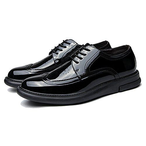 en Hommes Black Casual Confort Lace Chaussures Mode LYZGF Cuir Affaires Jeunesse wZpvxqw8d