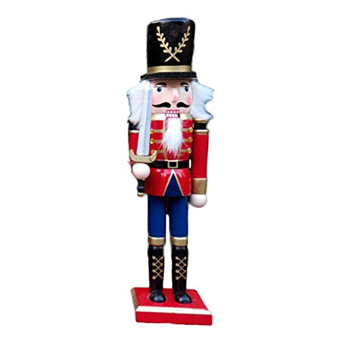O-Toys Wooden Nutcracker Ornaments Christmas Decoration Figures Puppet Toys Home Decor (12 Inch) (Sword) (Nutcracker Soldiers Christmas For)