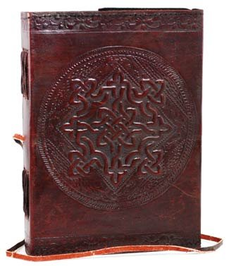 Celtic Knot Leather Blank Book - Leather Journal Blank Book