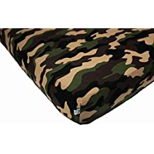 100% Organic Bamboo Fitted Crib Sheet - Camo. Best for Standard Crib Mattresses for Healthier and Safer Infant and Toddler Sleeping. Perfect for Children With SPD Sensory Challenges!