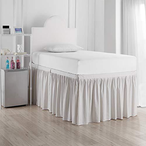 DormCo Bed Skirt Twin XL (3 Panel Set) - Jet Stream