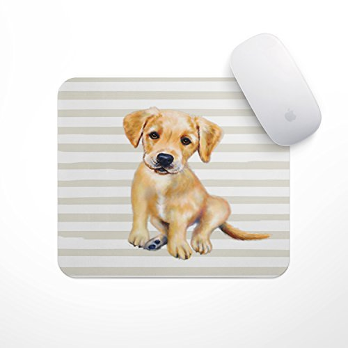 Cute Puppy Mousepad Golden Lab Puppy Mouse Pad - Perfect for Dog Mom and Dog Dad Cute Puppy Mousepad Desk Accessories for Dog Mama