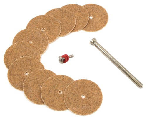 Forney 60234 Sanding Disc Replacement Set with 1/8-Inch Mandrel, 7/8-Inch, Medium Grit, 10-Piece (Sanding Disc Industries Forney)