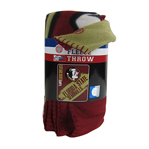 Officially Licensed NCAA Painted Fleece Throw Blanket - Florida State (Fleece Florida State Seminoles Blanket)