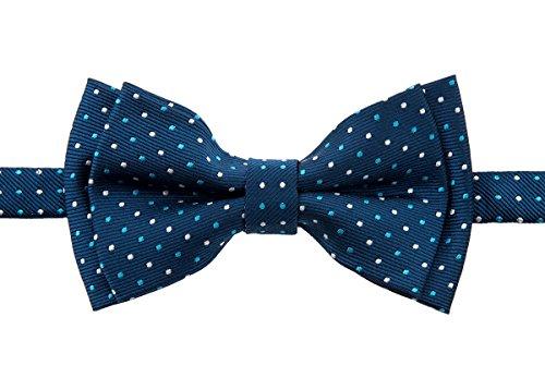 Retreez Dual Color Mini Polka Dots Woven Microfiber Pre-tied Boy's Bow Tie - Dark Turquoise - 6-18 months