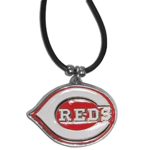 - Cincinnati Reds MLB Rubber Cord Necklace