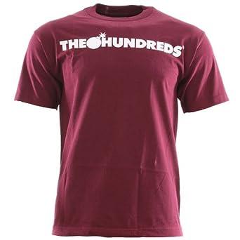 61cf8c4241ce The Hundreds Forever Bar Logo T Shirt Burgundy Small  Amazon.co.uk  Clothing