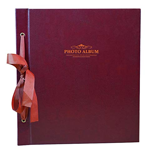 PU Photo Album, Interstitial Album, Large Capacity can Hold 1000 Photos (Color : Coffee Color, Size : 32X35.8X6.7cm)