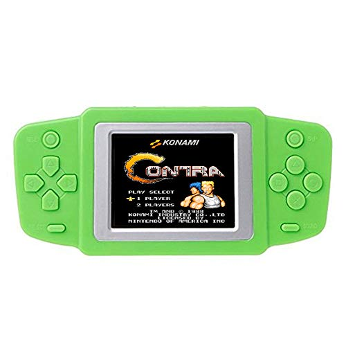 Vovomay Retro Handheld Game Console, Gaming Player Arcade System Birthday Gift for Children Boys (Green) ()