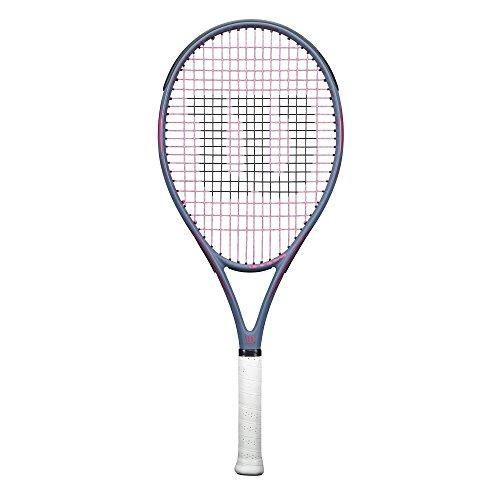 Wilson Hyperion PowerX 1 Tennis Racquet, Grey/Pink, 4 1/4″