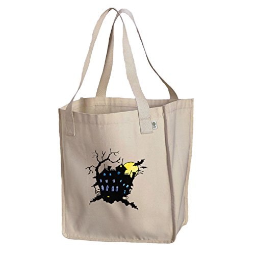 Market Tote Organic Cotton Canvas Black House Vintage Look By Style In ()