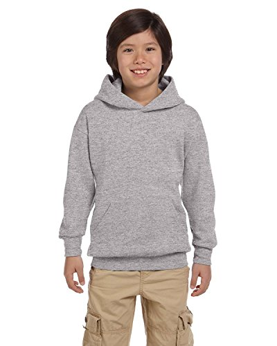 Hanes Youth ComfortBlend® EcoSmart® Pullover Hoodie, Light Steel, Large