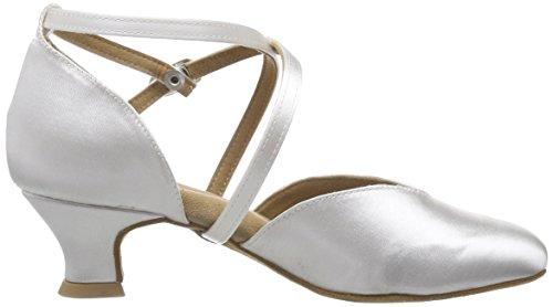 Diamant Diamant Brautschuhe Standard Tanzschuhe 107-013-092 - Zapatos de baile Mujer Blanco (Schwarz)