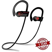 Bluetooth Headphones, Beats Competitors, Best Wireless Noise Canceling Earphones w/ Mic, Siri Compatible, Premium HD Stereo IPX7 Earbuds, Waterproof, Sweatproof, for Running Sports Gym, Levitate Audio