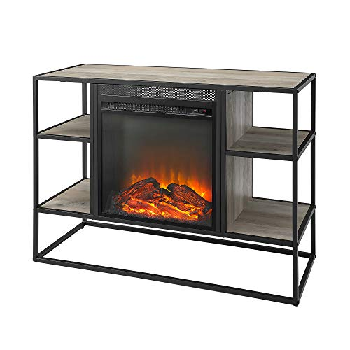 WE Furniture AZ40FPJERGW Fireplace TV Stand, 40 , Grey Wash