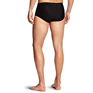 Speedo Men's Xtra Life Lycra Solid 5 Inch Brief Swimsuit, Black, 34