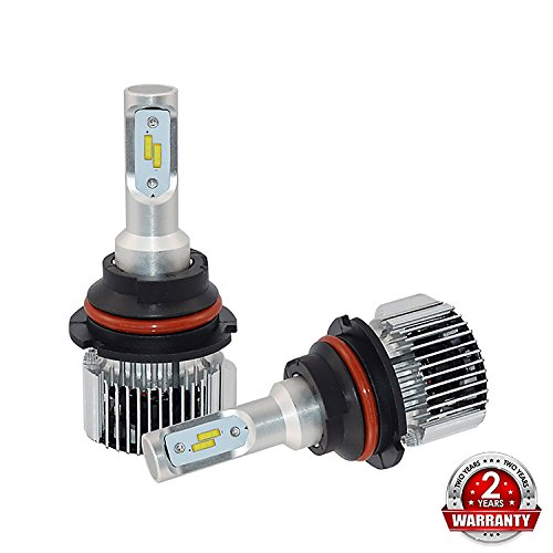 XSPEED JDM LITE 9004 (HB1) X8 Series 9600 Lumens Extremely Bright XTC Chips LED Headlight Bulbs All in One Conversion Kit Hi/Low Beam Aluminum Body Xenon White 6000k 2 Yr Warranty (2018 Version)