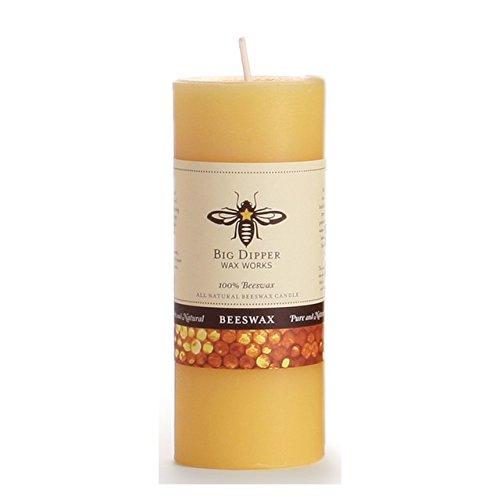 Candle Pillar Beeswax (Big Dipper Wax Works P24N Pure Beeswax Pillar Candles)