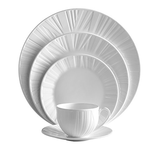 Wedgwood China Open Vegetable Dish (Vera Wang Wedgwood Organza 5-Piece Place Setting Set)