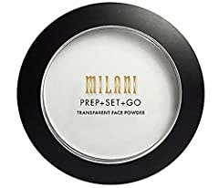 ** MILANI Prep + Set + GO Transparent Face Powder ** Prep + Set + Go Transparent Face Powder is a complexion-smoothing primer that blurs the look of large pores and fine lines, sets your makeup-extending its wear-and controls shine on the go!...