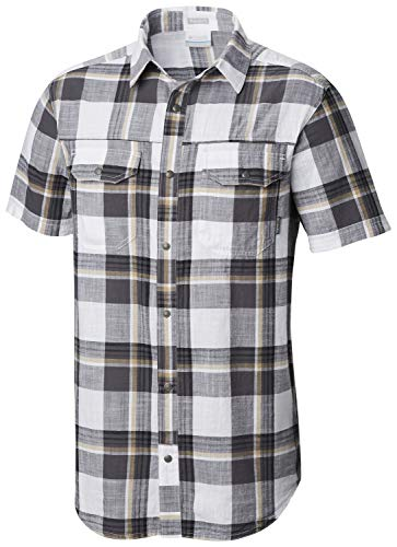 Columbia Men's Leadville Ridge Yarn Dye Short Sleeve Shirt, Graphite Big Check XL ()