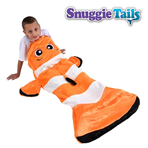 Snuggie Tails Comfy Cozy Super Soft Warm Clownfish Blanket for Kids, As Seen on TV ()