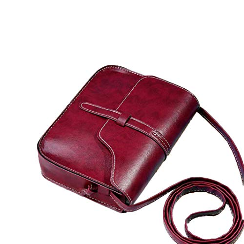 Messenger able Red Mini Bag Shoulder Ladies Small Shoulder Handbag Totes Fashion Bag Body Vintage Bag Women Cross Purse Leather Bag For qvF7fRw