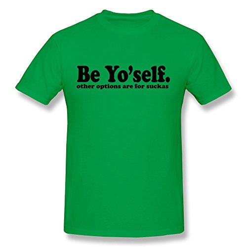 SNOWANG Men's Be Yourself T-shirt L -
