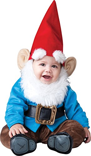 UHC Baby's Lil Garden Gnome Jumpsuit Infant Toddler Child Halloween Costume, 6-12M