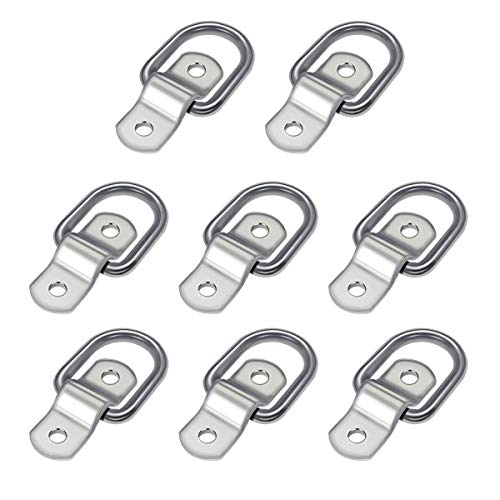 Audew 8-Pack D Ring 1/4 Tie Down Ring Load Anchor Trailer Anchor Forged Lashing Ring with 9600 Pound Capacity