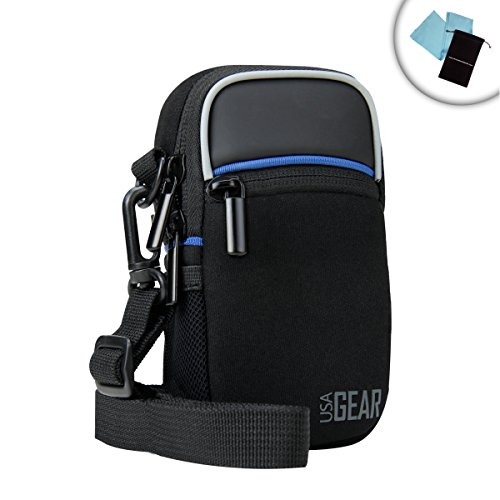 Compact Point and Shoot Camera Case Bag with Rain Cover & Sc