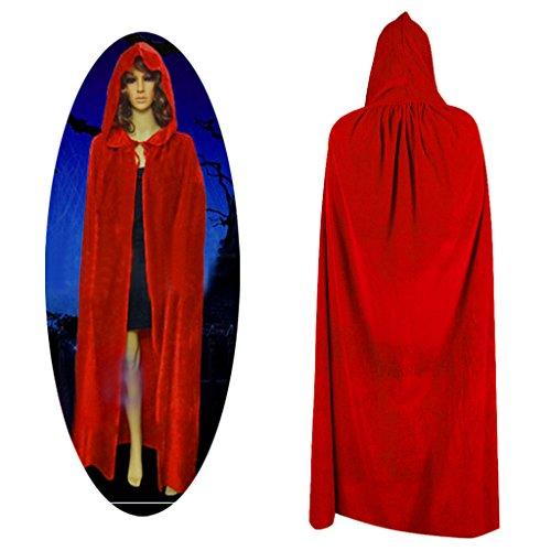 Timberlark Halloween Witch Velvet Cloak Adult Hooded Cape Costume Robe Party (Ryuk Halloween Costume)