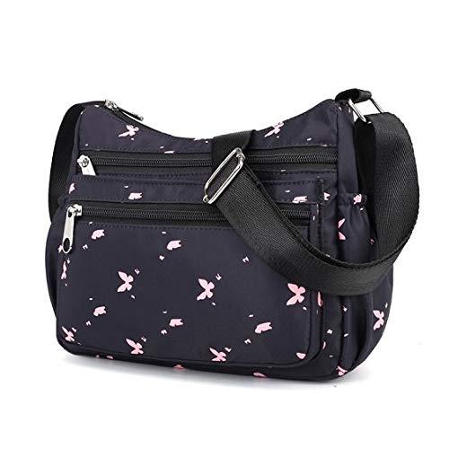 HITSAN INCORPORATION Brand Women s Handbag 2018 New Flowers Print Shoulder Bag  Lady Messenger Bags Multi Zipper ad827a22c7