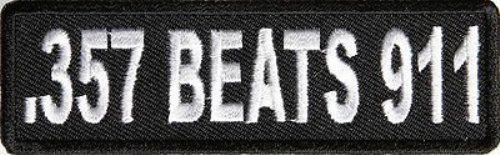 357 Beats 911 Nra Gun Embroidered Motorcycle Quality Biker Vest Patch