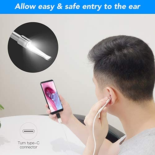 Anykit Ear Wax Removal Tool, HD Otoscope for Android and PC-NOT for iPhone/iPad, Ultra Clear View Ear Camera with Wax Remover, Ear Endoscope with LED Lights, Ear Cleaning Camera with Ear Spoon