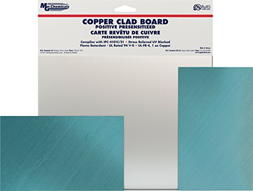 MG Chemicals 660 Positive Presensitized Copper Clad Board, Double Sided, 9