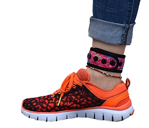 B-Great Ankle Band for Fitbit Flex/2, Fitbit One, Fitbit Zip, Fitbit Charge HR 2, Fitbit Alta/HR or Garmin Vivofit/2/3/4/JR, Misfit Shine/2, Ankle Band for Men and Women (Fishes Pattern, (Band Clip)