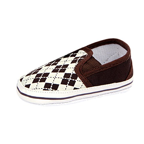 Weixinbuy Baby Boy Toddler Soft Sole Sneaker Plaid Slip On Crib Shoes