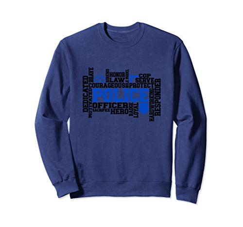 Police Shirts Law Enforcement 1st First Responder Blue Line Sweatshirt (Police Officer Killed In Line Of Duty 2013)