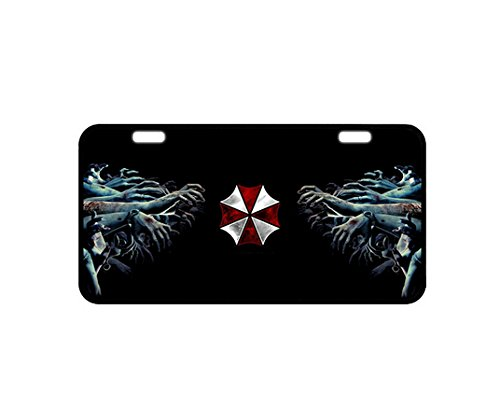 Durable Cool Metal License Plate - Resident Evil