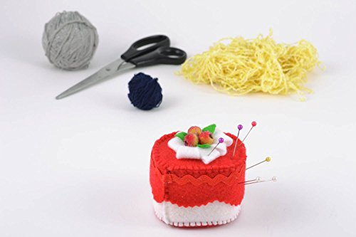 - Handmade Felt Pincushion In The Shape Of Cake