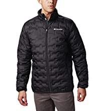 Columbia Men's Delta Ridge Down Winter Jacket, Insulated, Water repellent, Small, Black