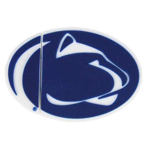 Flashscot NCAA Penn State Lion Head Shape USB Drive, Penn State, 16GB