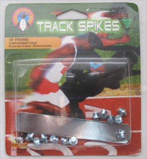 """12 Replacement Champ Track Spikes - 1/8"""" Pyramid - Wrench Included"""